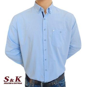 Мъжка едноцветна риза 100% варен памук