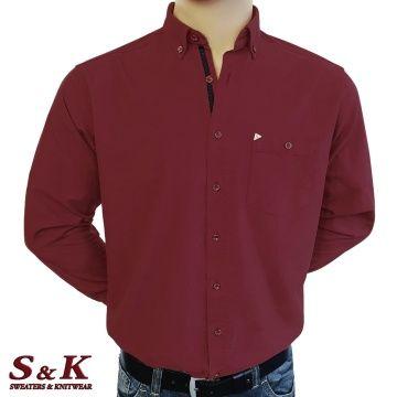Мъжка едноцветна риза 100% памук - 1899