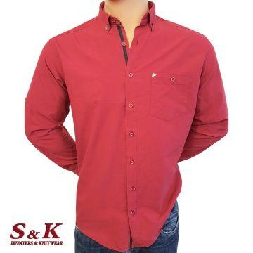 Мъжка едноцветна риза 100% памук - 1479