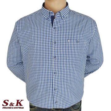 Големи мъжки ризи каре 100% варен памук - 575