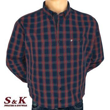 Големи мъжки ризи 100% варен памук каре - 951