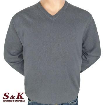 Големи размери мъжки пуловери от 100% памук 112-1