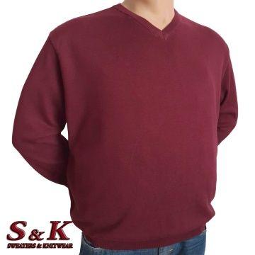 Големи размери мъжки пуловери от 100% памук 112-2