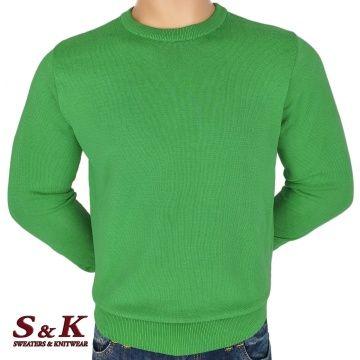 Мъжки едноцветни пуловери от 100% памук 13-2