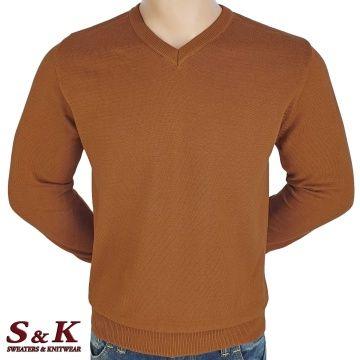 Мъжки едноцветни пуловери от 100% памук 12-4