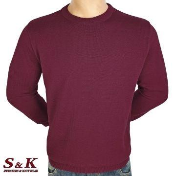 Мъжки едноцветни пуловери от 100% памук 13-3