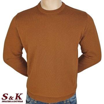 Мъжки едноцветни пуловери от 100% памук 13-5