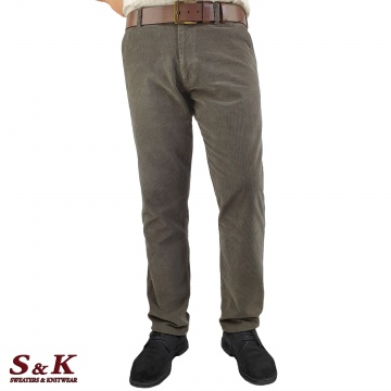 Плътни Мъжки Панталони - Памучно Кадифе - 1156