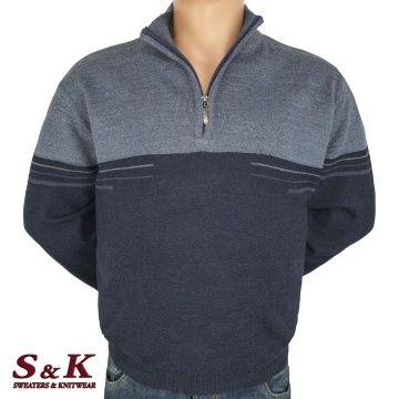 Големи мъжки пуловери с цип 2026-1