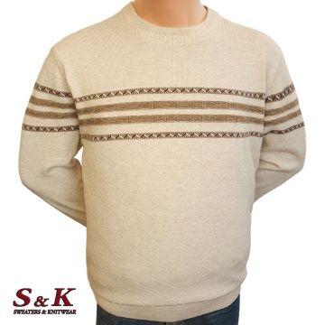 Стилен мъжки пуловер в големи размери 2078