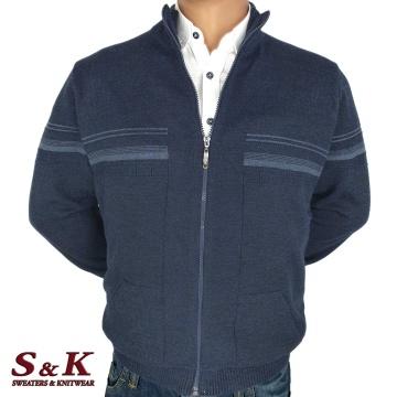 Големи мъжки жилетки с цип и джобове - 2303