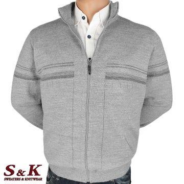 Големи мъжки жилетки с цип и джобове - 2303 -1