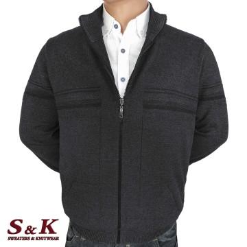 Големи мъжки жилетки с цип и джобове - 2303 -3