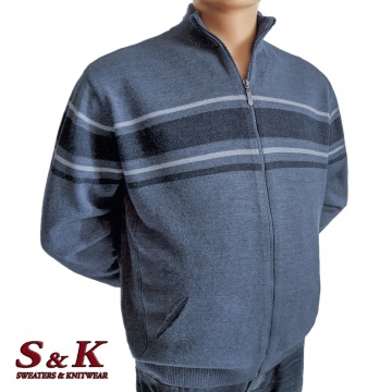 Big men's vest with zipper and pockets - 2071