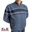 Големи мъжки жилетки с цип и джобове - 2071