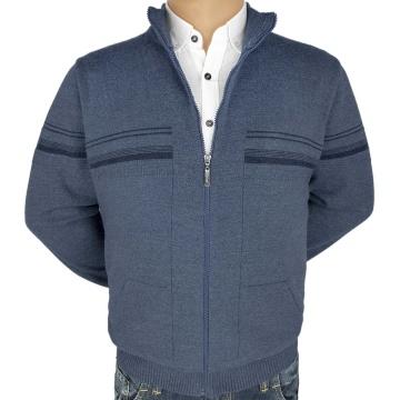 Големи мъжки жилетки с цип и джобове - 2303 -4