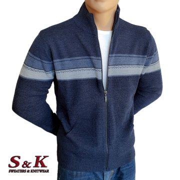Стилна мъжка жилетка с цип и джобове - 2066