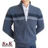 Стилна мъжка жилетка с цип и джобове - 2066-1