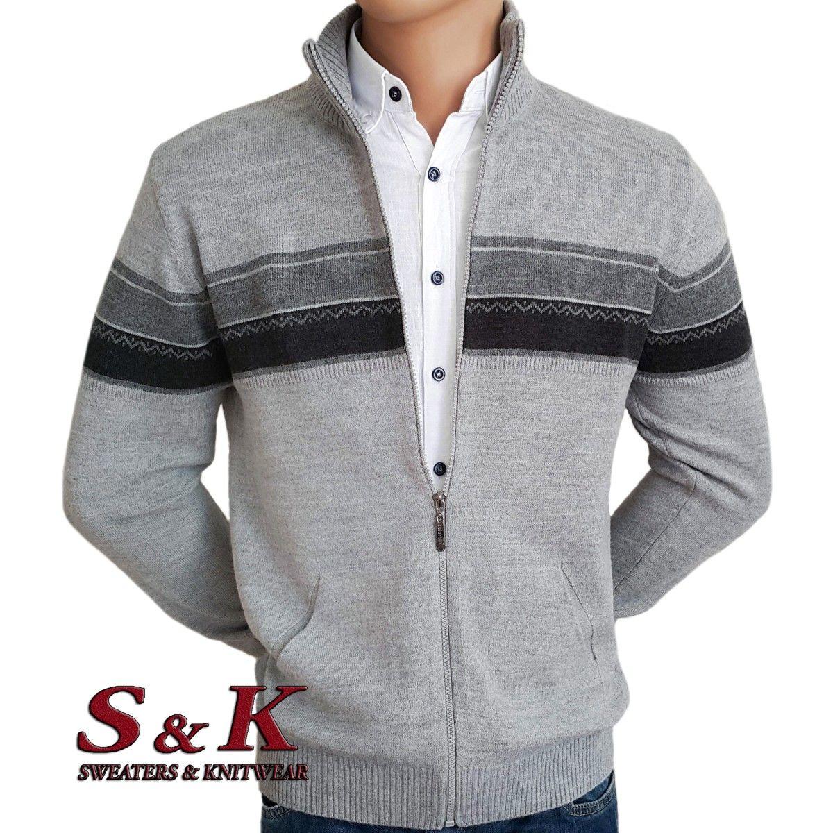 Стилна мъжка жилетка с цип и джобове - 2066-2