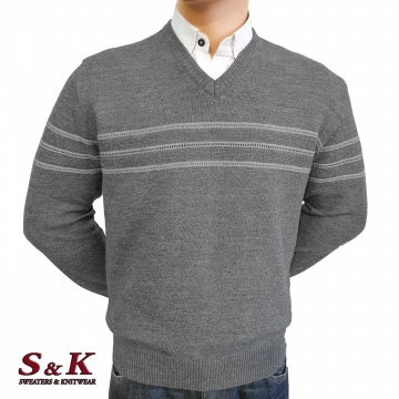 Luxury men's sweater with a V neck - 2145-1
