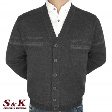Big men's vests with buttons and pockets 2304-2
