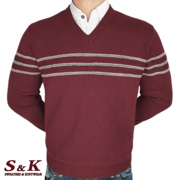 Luxury men's sweater with a V neck - 2145-3
