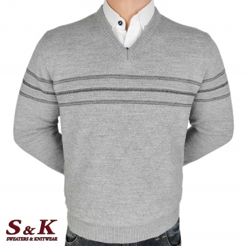Luxury men's sweater with a V neck - 2145-5