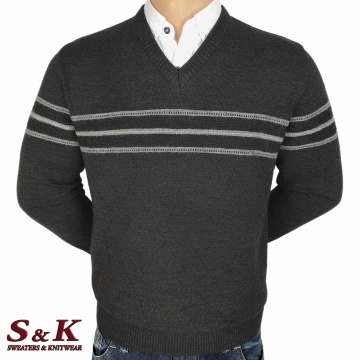 Luxury men's sweater with a V neck - 2145-6