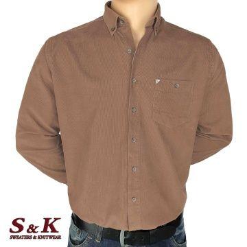 Men's cotton velvet shirt - 2195