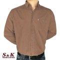 Мъжка риза от памучно кадифе - 2195