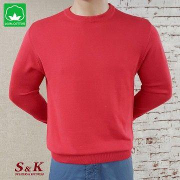 Elegant men's 100% cotton sweaters