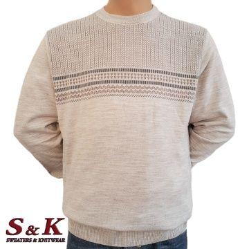 Елегантен фин мъжки пуловер в големи размери