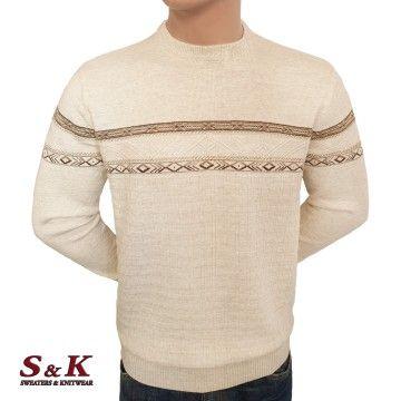 Луксозен пуловер с обло деколте